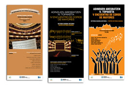 Carteles de Encuentros de coros de mayores - Adinduen abesbatzen topaketa